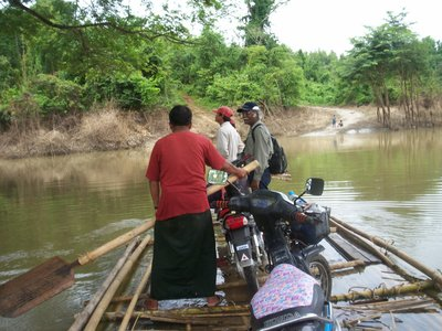 River raft ride to home of teak